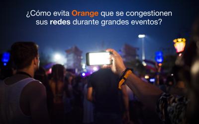 ¿Cómo evita Orange que sus redes se colapsen durante grandes eventos?
