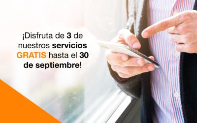 3 servicios gratuitos hasta 3 septiembre