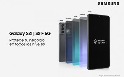 Protege tu negocio en todos los niveles con los nuevos Galaxy S21 5G y S21+ 5G